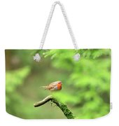English Robin Erithacus Rubecula Weekender Tote Bag