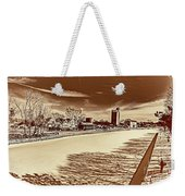 Erie Canal At Pittsford Weekender Tote Bag
