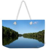 Erie Canal In Early Autumn Weekender Tote Bag