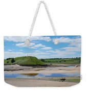 estuary on river Aln at Alnmouth Weekender Tote Bag