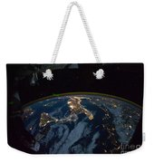 Italy From Space At Night Weekender Tote Bag
