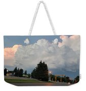 Evening Lightning Storm Illuminates The Sky Weekender Tote Bag