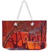 Evening Shadows On A Round Taos House Weekender Tote Bag by Art West