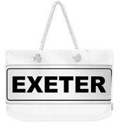 Exeter City Nameplate Weekender Tote Bag