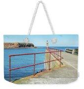 Eyemouth Harbour Pier Entrance Weekender Tote Bag