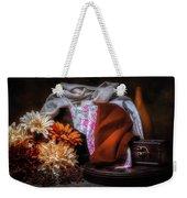 Fabric And Flowers Weekender Tote Bag