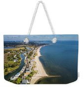 Fairfield Beach Connecticut Aerial Weekender Tote Bag