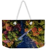 Fall Aerial With Bridge Weekender Tote Bag