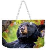 Fall Black Bear Weekender Tote Bag