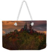 Fall Clouds Over Holy Hill Weekender Tote Bag
