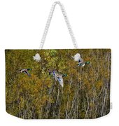 Fall Time Mallards Weekender Tote Bag