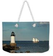 Fame Sailing Into Salem Harbor Weekender Tote Bag by Jeff Folger
