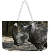 Fantastic Profile Of A Rhino With A Long Horn Weekender Tote Bag