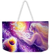 Fantasy Painting About The Flight Of A Dream In The Universe Weekender Tote Bag