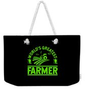 Farmer Shirt Worlds Greatest Farmer Gift Tee Weekender Tote Bag