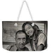 Father And Daughter Weekender Tote Bag by Ron Cline