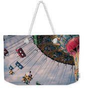 Father And Son On The Swings Weekender Tote Bag