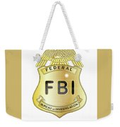 Fbi Badge Weekender Tote Bag