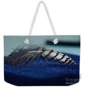 Feather Weekender Tote Bag by Ann E Robson