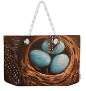 Feathers And Eggs Weekender Tote Bag