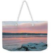 February Sunrise On The Hudson Weekender Tote Bag