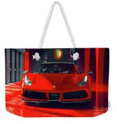 Ferrari Red Weekender Tote Bag