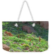 Field Of Echium Wildpretii In The Teide National Park Weekender Tote Bag