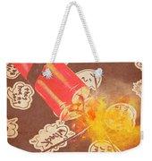 Fiery Fuse Weekender Tote Bag
