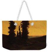 Fir Trees At Sunset Weekender Tote Bag