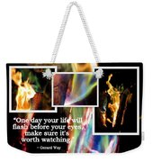 Fire With Color Weekender Tote Bag