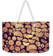 Firewood Logs Weekender Tote Bag