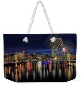 Fireworks And Tillikum Crossing Weekender Tote Bag
