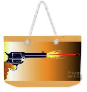 Firing Revolver Weekender Tote Bag