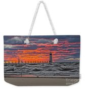 First Day Of Fall Sunset Weekender Tote Bag