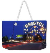 First Night Of The Bristol Sign With New Led Bulbs Weekender Tote Bag