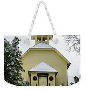 First Presbyterian Church In The Snow Weekender Tote Bag