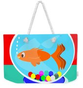 Fish Tank With Fish And Complete Kit Weekender Tote Bag