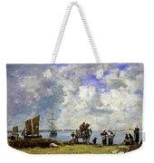 Fishermens Wives At The Seaside - Digital Remastered Edition Weekender Tote Bag