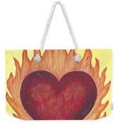 Flaming Heart Weekender Tote Bag