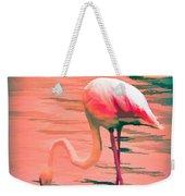 Flamingo Art Weekender Tote Bag