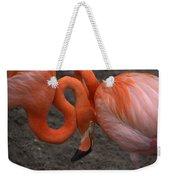 Flamingo Couple Weekender Tote Bag