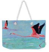 Flamingoes For Audrey Weekender Tote Bag