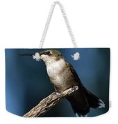Flick Of The Tongue - Ruby-throated Hummingbird Weekender Tote Bag