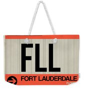 Fll Fort Lauderdale Luggage Tag I Weekender Tote Bag