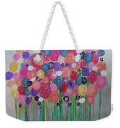 Floral Balloon Bouquet Weekender Tote Bag by Kim Nelson