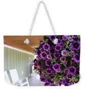 Floral Porch Sitting Weekender Tote Bag