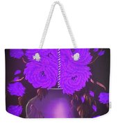 Floral Roses With So Much Passion In Purple  Weekender Tote Bag