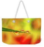 Flower In Water Droplet Weekender Tote Bag