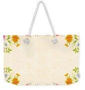 Flower Print Weekender Tote Bag