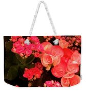 Flowers At Wynn Weekender Tote Bag by Laurie Lundquist